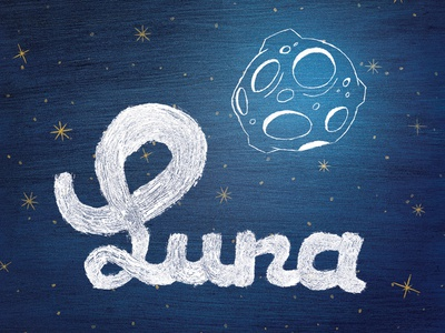 Luna typography brush copic drawn hand lettering marker type