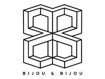 Bijou & Bijou logo geometry draw bijou party music
