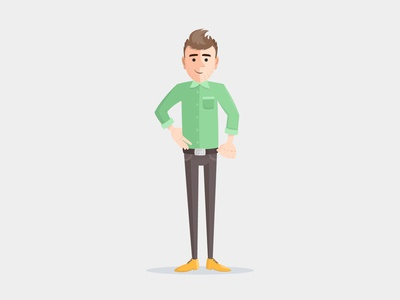 Modern CEO character asset motion animation flat illustration