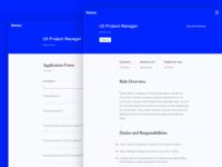 Job Description and Form - Web UI