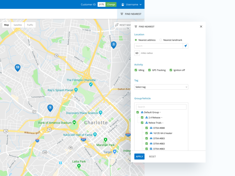 Filter for Live Vehicle Tracking by Saurabh Jayant on Dribbble