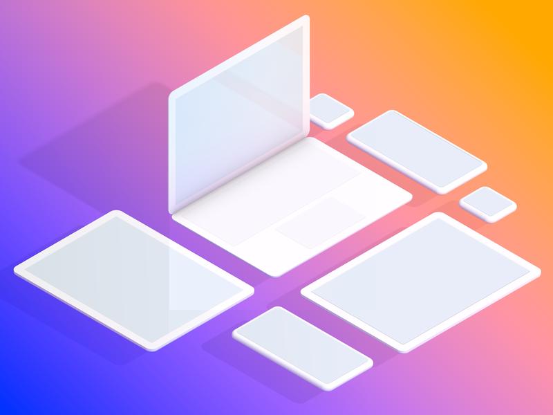 Devices ipad macbook iwatch iphonex mobile design colors