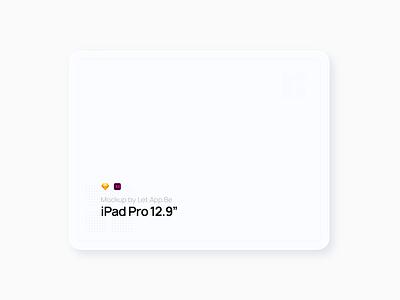 "iPad Pro 12.9"" Black'n'White Mockup apple devices screen apple ipadpro free mockup ipad design"