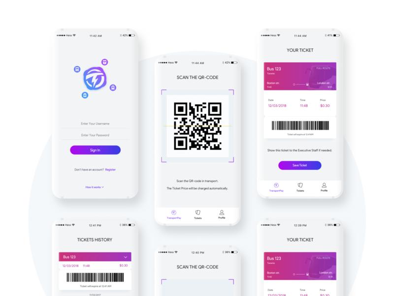 Transportpay Mobile App mobile ux colors ui design