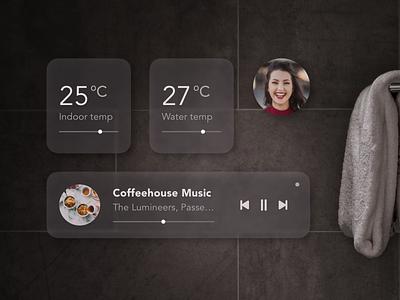 Smart Bath Ui concept bathroom smart home smart house smart temperature ar art vr shower bath app ux ui design