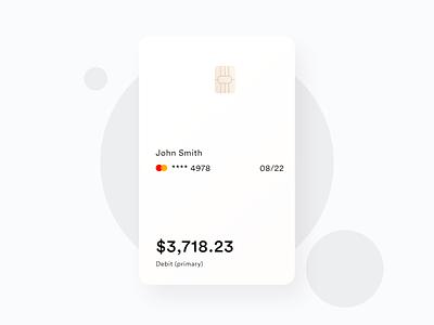 Digital Banking Card mobile design fintech softui mastercard debit card credit card card digital banking clean white ux design ui