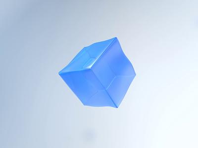 Jelly ice cube design cinema4d interaction design interaction c4d 3d motion design motion ux ui