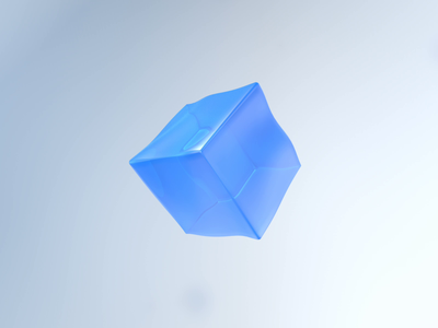 Jelly ice cube design cinema4d interaction design interaction c4d 3d motion design motion ux ui