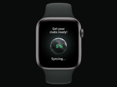 Apple Watch multi-player golfing user experience c4d design ixd product design apple watch design apple watch watch user interface cinema4d app interaction design interaction 3d motion design motion ux ui
