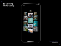 3D scrolling photo gallery
