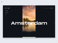 Travel guide landing page motion concept