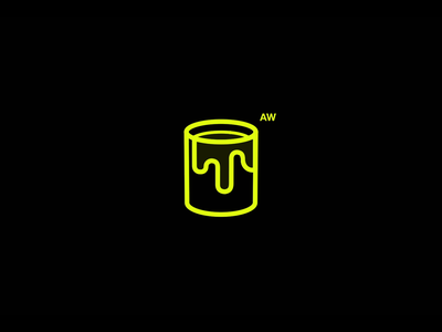 Acid_Works logo animation sketch and toon after effects branding c4d cinema4d interaction 3d motion design motion ui