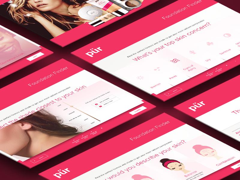 Makeup Product Finder UI ui ipad fashion makeup pink