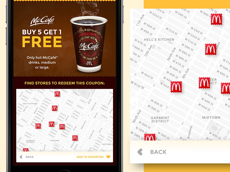 McCoupons App - Locations
