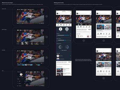 Football mobile video player football app mobile player video player interactions interaction mobile soccer football ui ux app