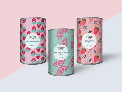 Zuno Tea Flavor Patterns illustration vector branding design graphic design surface design pattern design pattern logo branding design brand identity brand design brand