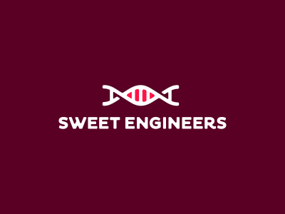 Sweet Engineers Logo Design logo icon identity design mark branding typography dna genetic sweets engineers candy store purple creative logo design logo designer logotype brand custom made custom utopia branding agency agency studio dalius stuoka deividas bielskis alex tass logo mark symbol
