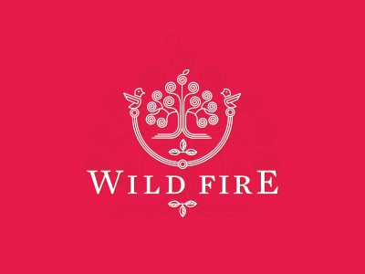 Wild Fire Logo Design logo icon identity design mark emblem label wine cider energy ornament lineart fire wild red utopia creative logo design logo designer logotype brand branding custom made custom branding agency agency studio dalius stuoka deividas bielskis alex tass