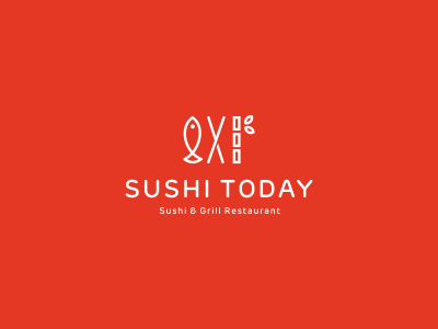Sushi Today sushi fish bamboo food cuisine restaurant eat japan logo branding utopia logo design identity identity design grill fast-food fastfood china japanese rice seafood abstract asian asiatic asia chopsticks logo mark mark symbol icon