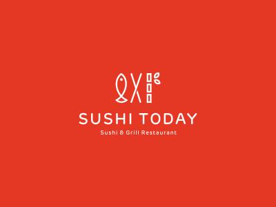 Sushi Today sushi fish bamboo food cuisine restaurant eat japan logo branding utopia logo design identity identity design grill fast-food fastfood china japanese rice seafood abstract asian asiatic asia chopsticks logo mark mark symbol icon