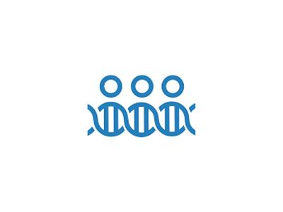 People + DNA, medical crowdfunding logo design symbol