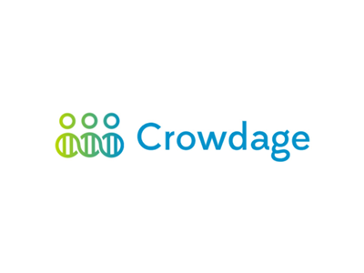 Crowdage, logo design for biotechnology and medical project