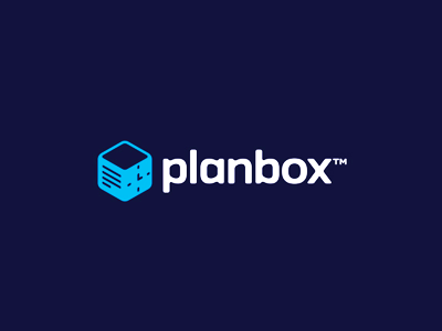 Planbox logo design taks time productivity organized focused big companies small groups logo design logo efficiency efficiently project management tool planning box plan work deliver