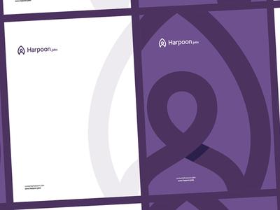 Harpoon A4 letterhead / identity design