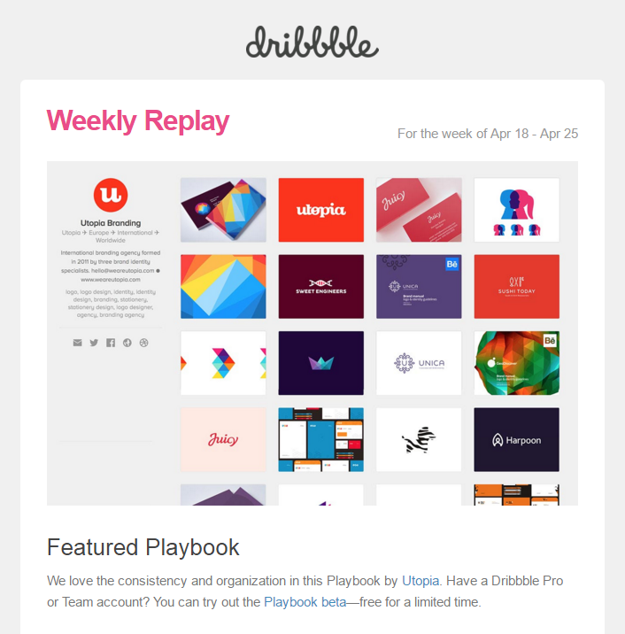 Dribbble s weekly replay featured playbook   utopia
