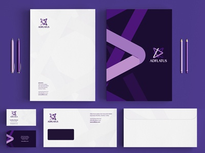 adflatus identity stationery design by utopia branding dribbble