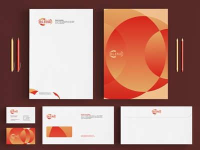 Blend Consulting Identity Stationery Design By Utopia Branding