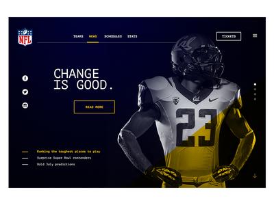 NFL Web Redesign