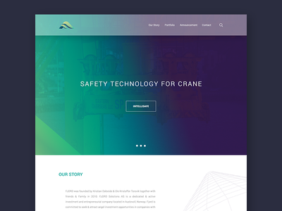 Industrial Technology Landing Page redesign tech industry clean white minimalist ui website landing page