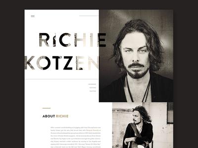 Richie Kotzen Website