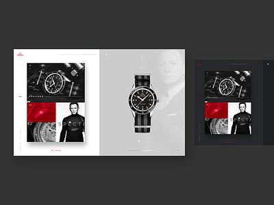"Omega Seamaster ""Spectre"" Edition lifestyle web redesign clean light dark bond ui watches watch"