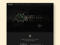 Panerai Redesign dark ui ui design black elegant luxury fashion military web uiux ui landing page watch