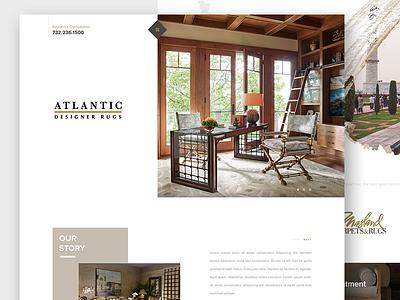 Carpets & Rugs Homepage architecture interior fashion web website uiux landing page ui furniture store rug warehouse carpet