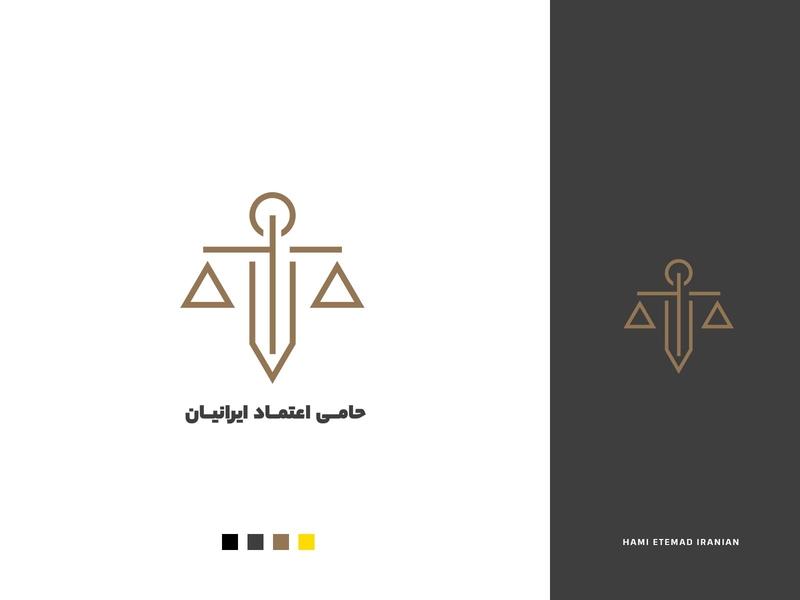HEI Legal institution logo minimal design branding persian logo logo lawyer law legal institution