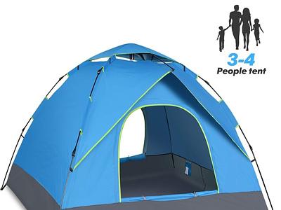 Lều cắm trại du lịch cao cấp dành cho 3,4 người camping
