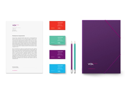 Vox ID id corporate branding colorful style logo identity stationery