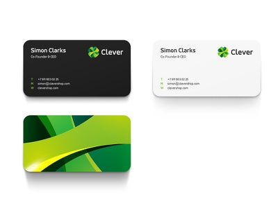 Clover cards sign clover card clever mark business trefoil logo