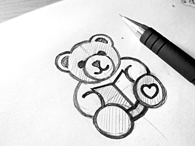 Bear with book animal logo character bear