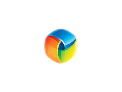 3D Pixel 3d pixel logo cube mark