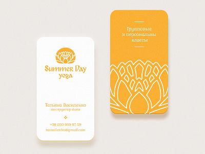 Yoga Cards yoga business card summer logo