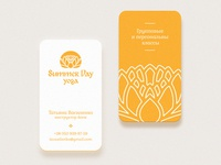 Yoga Cards yoga business card summer logo