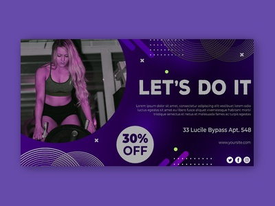Fitness & Gym Banners healthy health gym google gif flat design flat fitness exercise discount diet deal coupon business banners banner set banner pack animated banner animated adroll