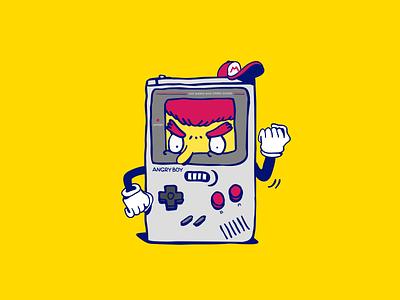 Angry Boy™ supremeninja illustration character angy nintendo videogames gameboy