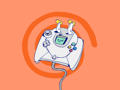 Dreamcast :D character art illustration supremeninja videogames controller dreamcast sega