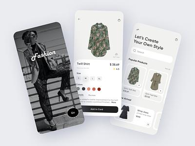 Fashion App ux ui design ios app app design mobile app ui