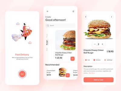 Food Delivery App app design design ux mobile app ux design food app